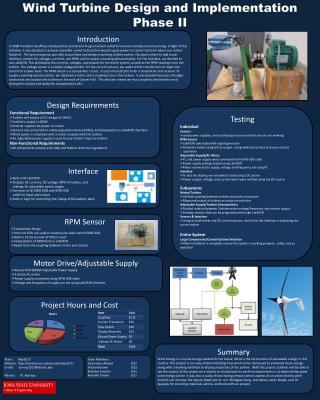 Wind Turbine Design and  Implementation Phase II