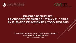 PLATAFORMA REGIONAL PARA LA RRD DE LAS AMERICAS GUAYAQUIL, 27 DE MAYO DE 2014
