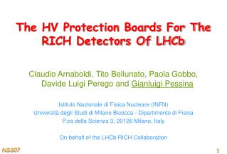 The HV Protection Boards For The RICH Detectors Of LHCb