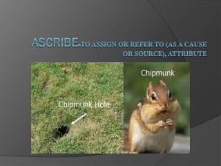 Ascribe -to assign or refer to (as a cause or source), attribute