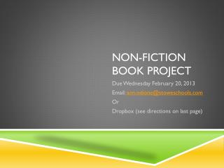 Non-Fiction Book Project