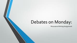 Debates on Monday: