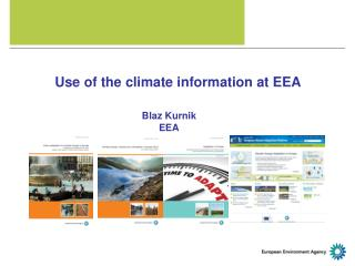 Use of the climate information at EEA