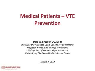 Medical Patients – VTE Prevention