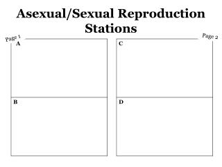 Asexual/Sexual Reproduction Stations