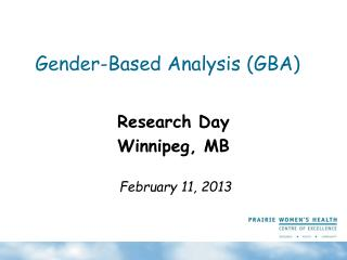 Gender-Based Analysis (GBA)