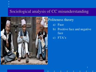 Sociological  analysis of CC  misunderstanding