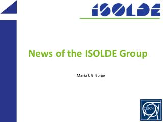 News of the ISOLDE Group