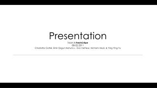 Presentation Team  B  FreshCrêpe