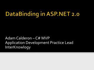 DataBinding  in ASP.NET 2.0