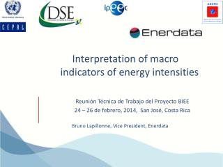 Interpretation of macro indicators of energy intensities