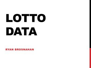 Lotto Data