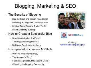 Blogging, Marketing & SEO