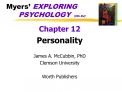 Myers  EXPLORING   PSYCHOLOGY  5th Ed