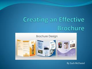 Creating an Effective Brochure