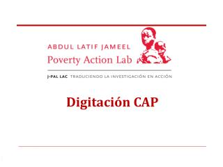 Digitación CAP