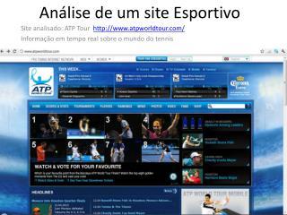 Análise  de um site  Esportivo