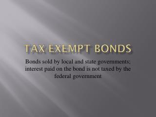 Tax-exempt bonds