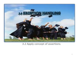 3.0 EXCEPTION HANDLING