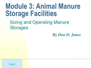 Module 3: Animal Manure Storage Facilities
