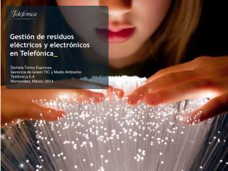 Gestión de residuos eléctricos y electrónicos en Telefónica _