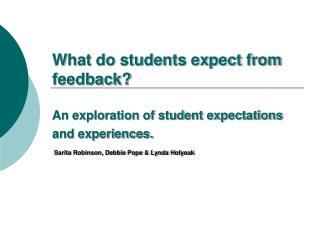 Why give feedback?