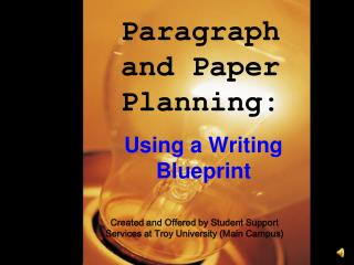Paragraph and Paper Planning: