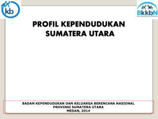 PROFIL KEPENDUDUKAN  SUMATERA UTARA