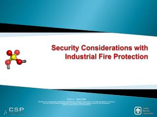 Security Considerations with Industrial Fire Protection