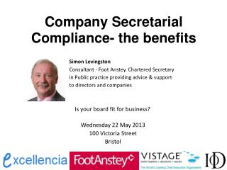 Company Secretarial Compliance- the benefits