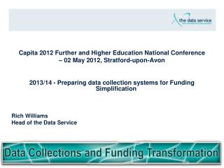 Capita 2012 Further and Higher Education National Conference  – 02 May 2012, Stratford-upon-Avon
