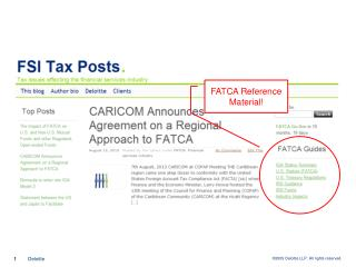 FATCA Reference Material!