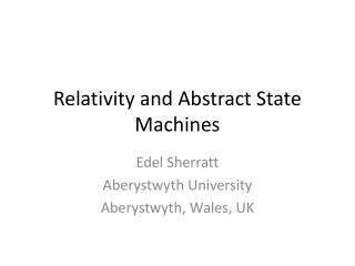 Relativity and Abstract State Machines