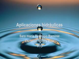 Aplicaciones hidráulicas