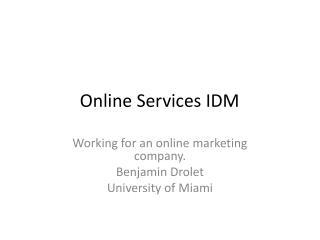 Online Services IDM