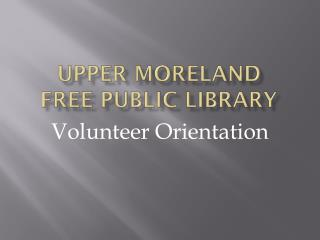 Upper Moreland Free Public Library
