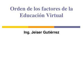 Orden de los factores de la Educación Virtual