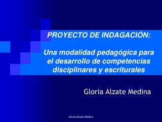 Gloria Alzate Medina