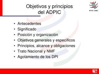 Objetivos y principios del ADPIC