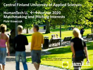 Central Finland University of Applied Sciences HumanTech  LL    Horizon 2020