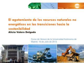Curso  de  Verano  de la Universidad  Autónoma  de Madrid, 16 de Julio de 2013