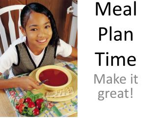 Meal Plan Time