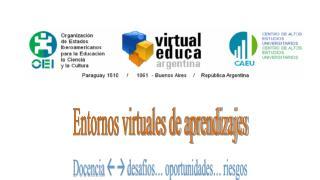 Entornos virtuales de aprendizajes