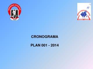 CRONOGRAMA PLAN 001 - 2014