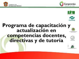 Programa de capacitación  y  actualización en competencias docentes ,  directivas  y de  tutoría