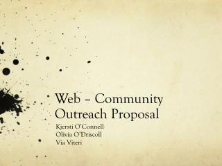 Web – Community Outreach Proposal