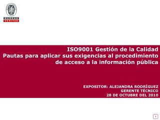 ISO9001 Gesti�n de la Calidad