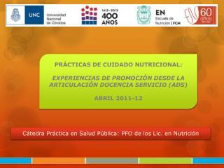 PR�CTICAS DE CUIDADO NUTRICIONAL: