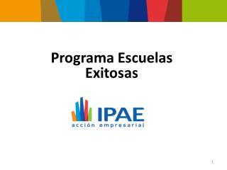 Programa Escuelas Exitosas