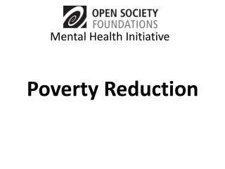Poverty Reduction